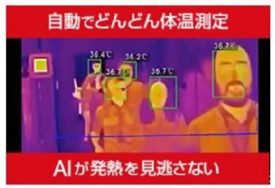 自動で複数人の体温測定可能