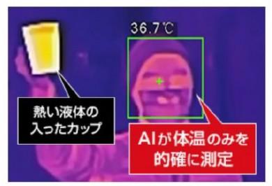 体温でないものはAIが自動判別